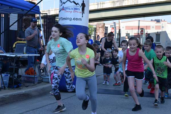 The kids' fun run proved more competitive than ever this year